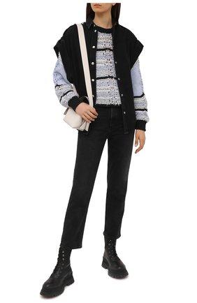 Женский хлопковый свитер IRO голубого цвета, арт. WM12PEGGIE | Фото 2