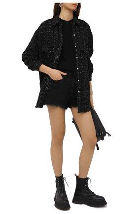 Женские джинсовые шорты IRO черного цвета, арт. WM300LNAY | Фото 2