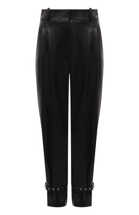 Женские кожаные брюки ALEXANDER MCQUEEN черного цвета, арт. 659787/Q5AF0 | Фото 1