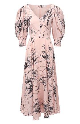 Женское шелковое платье ALEXANDER MCQUEEN розового цвета, арт. 654575/QDAA5 | Фото 1