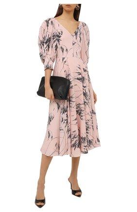 Женское шелковое платье ALEXANDER MCQUEEN розового цвета, арт. 654575/QDAA5 | Фото 2