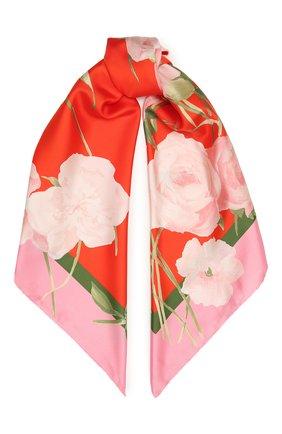 Женский шелковый платок VALENTINO красного цвета, арт. VW0EI114/AEB | Фото 1