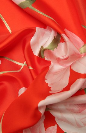 Женский шелковый платок VALENTINO красного цвета, арт. VW0EI114/AEB | Фото 2