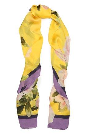 Женский шелковый шарф VALENTINO желтого цвета, арт. VW0ED007/NIU | Фото 1