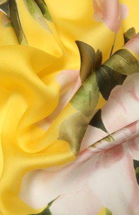 Женский шелковый шарф VALENTINO желтого цвета, арт. VW0ED007/NIU | Фото 2