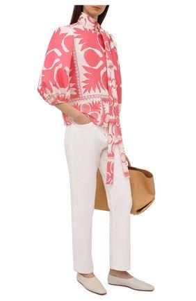 Женская блузка REDVALENTINO розового цвета, арт. VR0AAC55/5SA | Фото 2