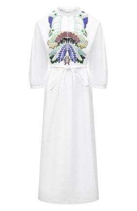 Женское хлопковое платье VALENTINO белого цвета, арт. VB3VAV265DN | Фото 1