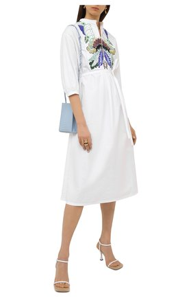 Женское хлопковое платье VALENTINO белого цвета, арт. VB3VAV265DN | Фото 2
