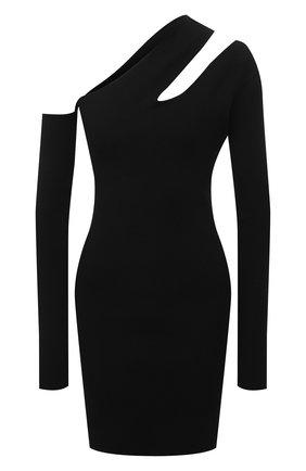 Женское платье из вискозы NANUSHKA черного цвета, арт. SHANI_BLACK_C0MPACT VISC0SE KNIT | Фото 1