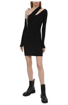 Женское платье из вискозы NANUSHKA черного цвета, арт. SHANI_BLACK_C0MPACT VISC0SE KNIT | Фото 2