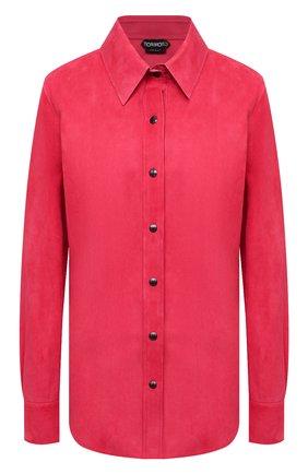 Женская замшевая рубашка TOM FORD фуксия цвета, арт. CAL553-LEX257 | Фото 1