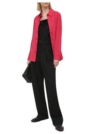 Женская замшевая рубашка TOM FORD фуксия цвета, арт. CAL553-LEX257 | Фото 2