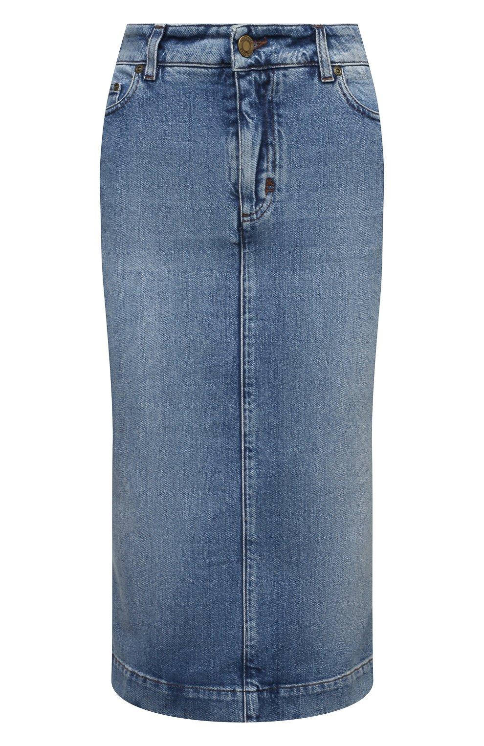 Женская джинсовая юбка TOM FORD голубого цвета, арт. GCD055-DEX128 | Фото 1