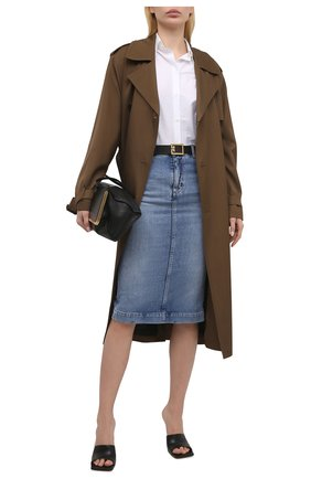 Женская джинсовая юбка TOM FORD голубого цвета, арт. GCD055-DEX128 | Фото 2