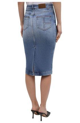 Женская джинсовая юбка TOM FORD голубого цвета, арт. GCD055-DEX128 | Фото 4