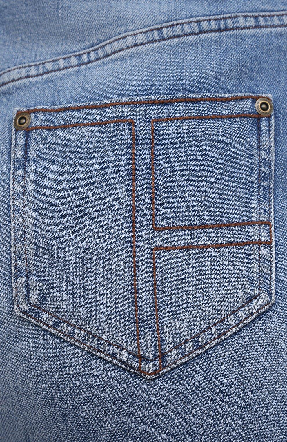 Женская джинсовая юбка TOM FORD голубого цвета, арт. GCD055-DEX128 | Фото 5