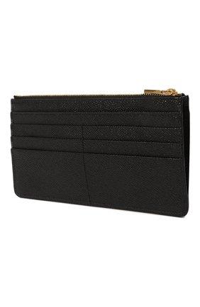 Женский кожаный футляр для кредитных карт DOLCE & GABBANA черного цвета, арт. BI1265/A1001   Фото 2