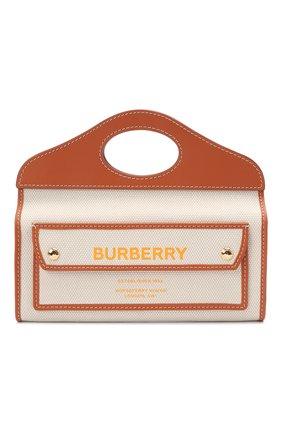 Женская сумка pocket small BURBERRY коричневого цвета, арт. 8036740 | Фото 1