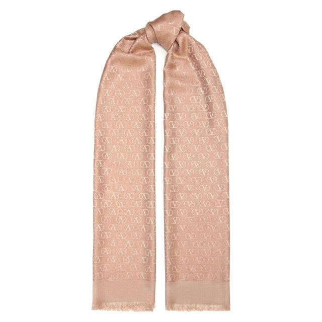 Шарф из шелка и шерсти Valentino