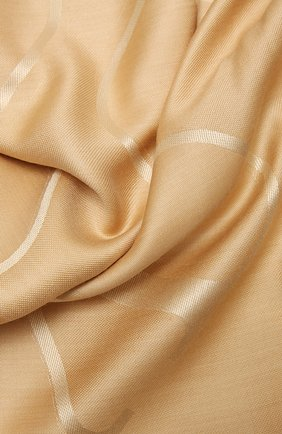 Женская шаль из шелка и шерсти VALENTINO бежевого цвета, арт. VW0EB104/AJB   Фото 2
