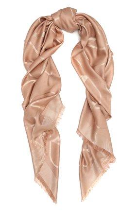 Женская шаль из шелка и шерсти VALENTINO светло-розового цвета, арт. VW0EB104/AJB   Фото 1