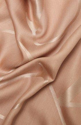 Женская шаль из шелка и шерсти VALENTINO светло-розового цвета, арт. VW0EB104/AJB   Фото 2