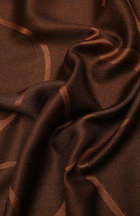 Женская шаль из шелка и шерсти VALENTINO темно-коричневого цвета, арт. VW0EB104/AJB   Фото 2