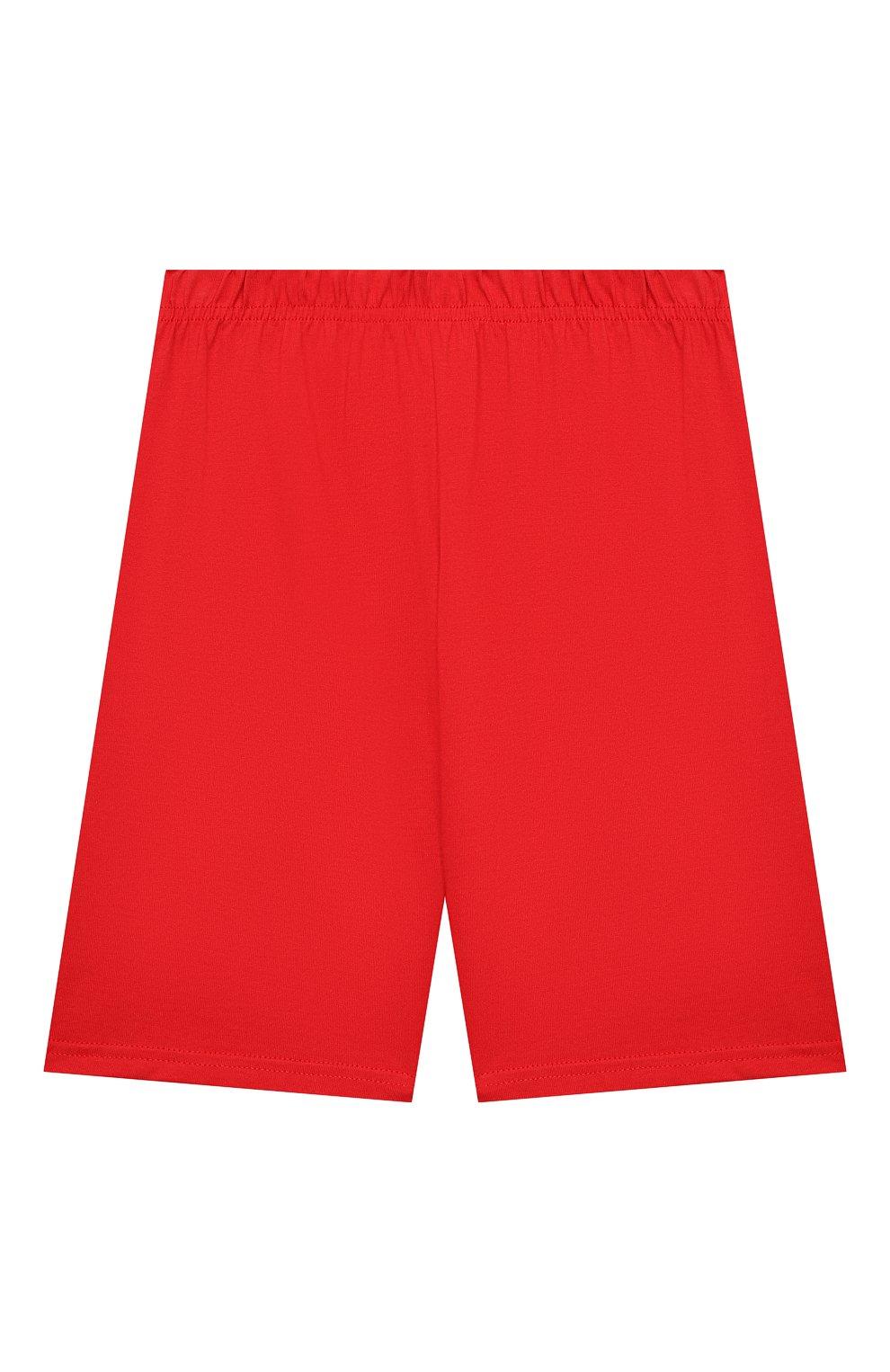 Женская хлопковая пижама LA PERLA красного цвета, арт. 70072/8A-14A | Фото 4