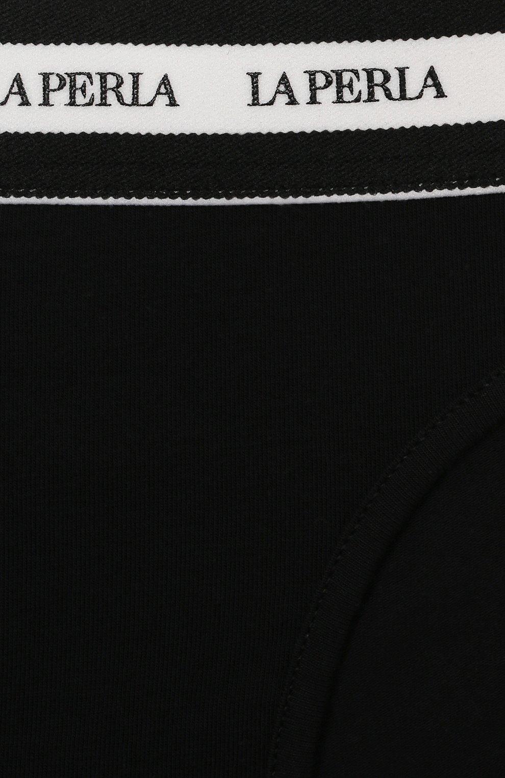 Детские трусы-слипы LA PERLA черного цвета, арт. 70127/8A-14A | Фото 3