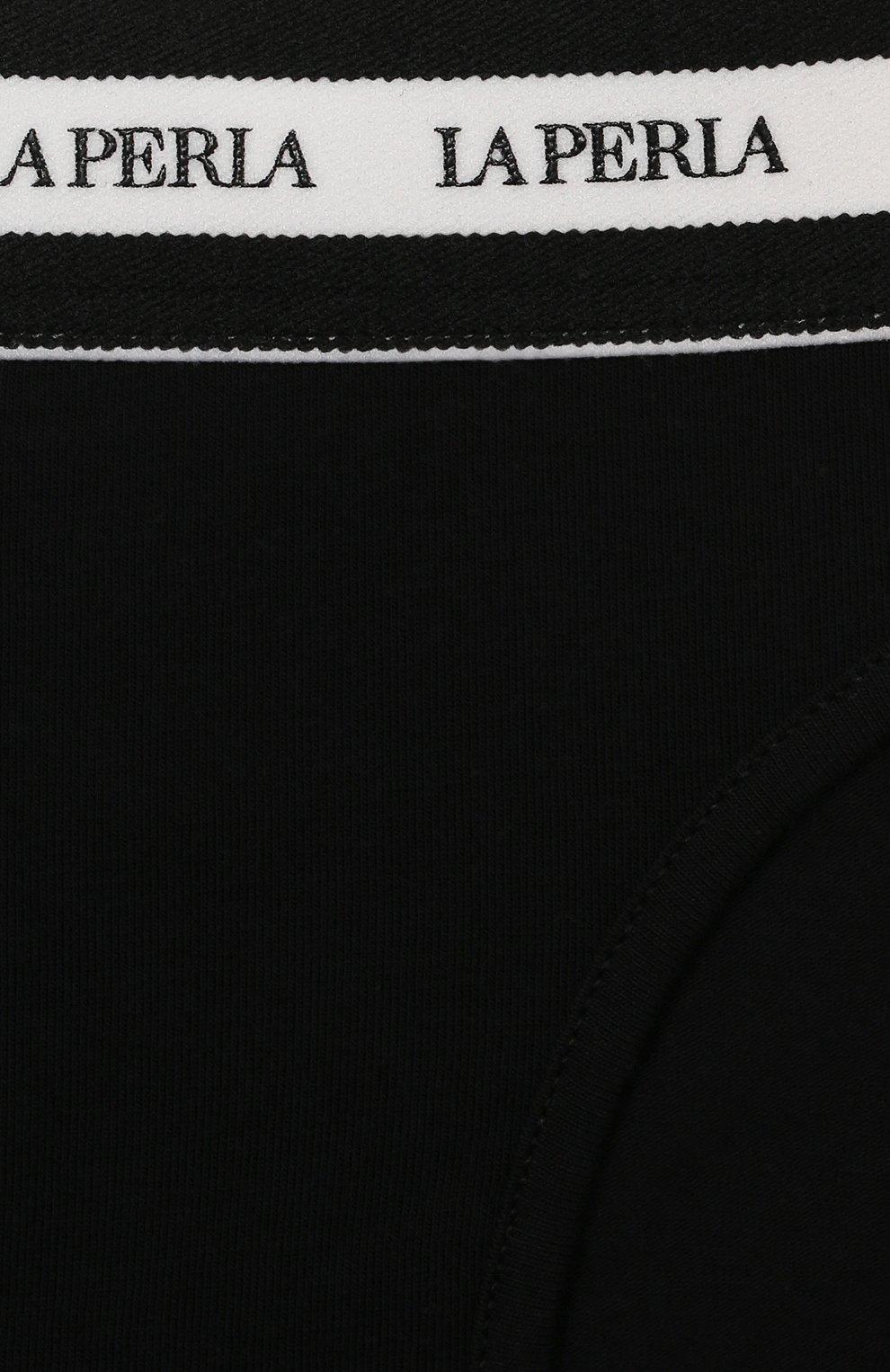 Детские трусы-слипы LA PERLA черного цвета, арт. 70127/2A-6A | Фото 3