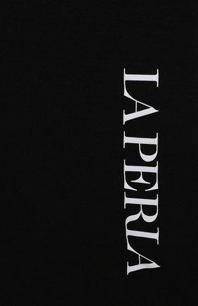Детская хлопковая футболка LA PERLA черного цвета, арт. 70135/8A-14A | Фото 3