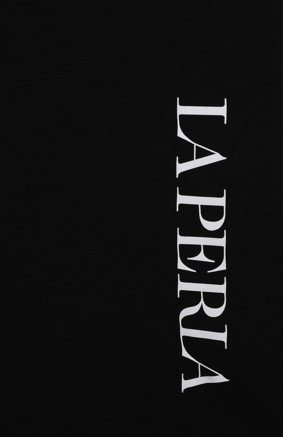 Детская хлопковая футболка LA PERLA черного цвета, арт. 70135/2A-6A   Фото 3