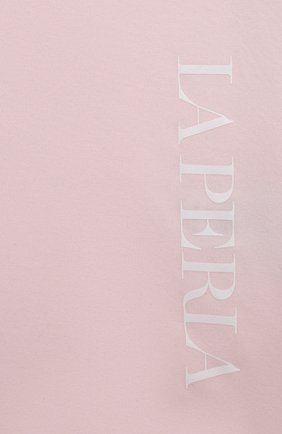 Детская хлопковая футболка LA PERLA розового цвета, арт. 70135/2A-6A   Фото 3