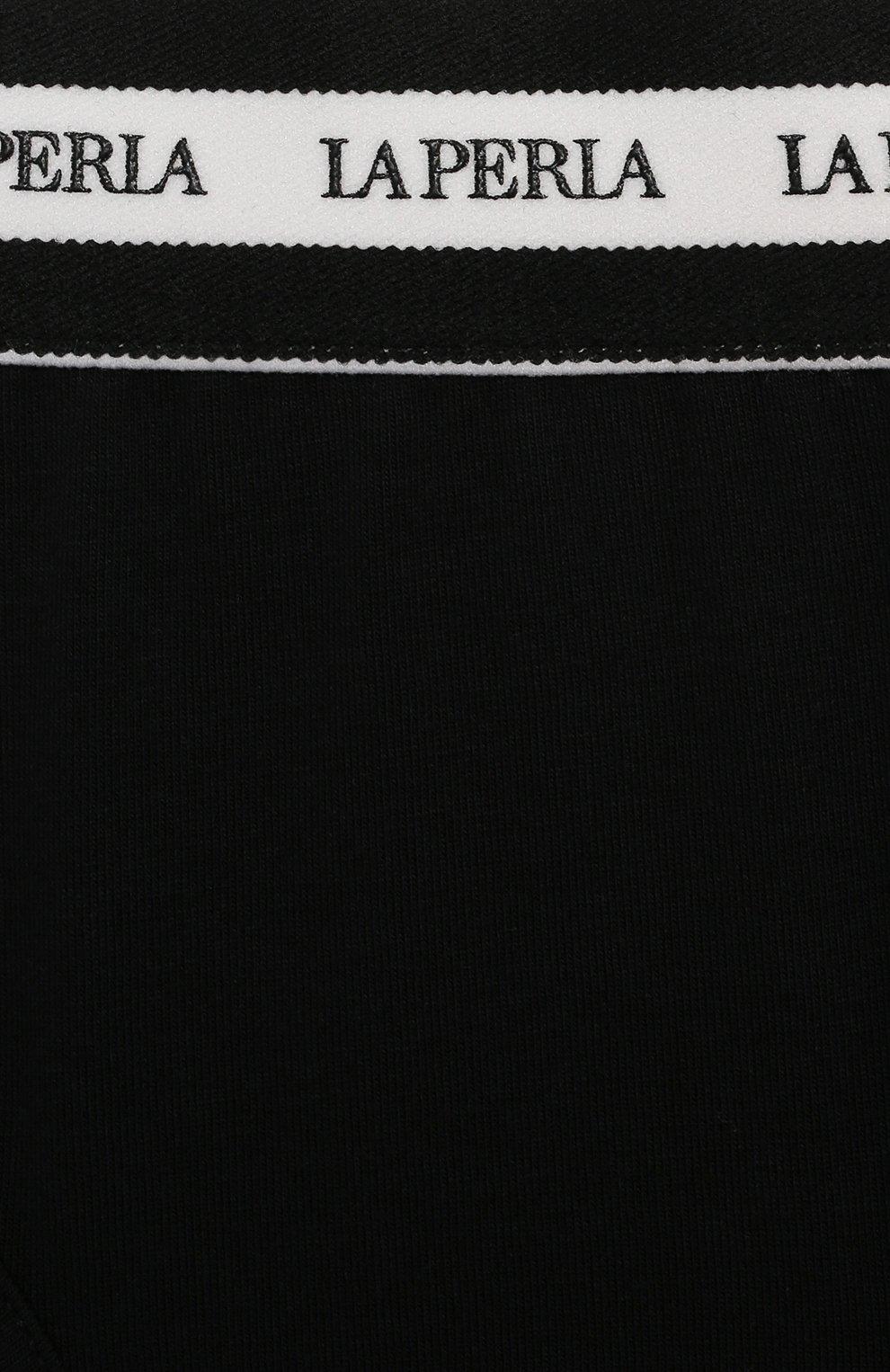 Детские трусы-слипы LA PERLA черного цвета, арт. 70137/8A-14A   Фото 3