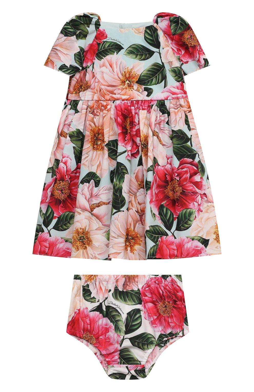 Женский комплект из платья и шорт DOLCE & GABBANA разноцветного цвета, арт. L21DQ6/HS5H5   Фото 1