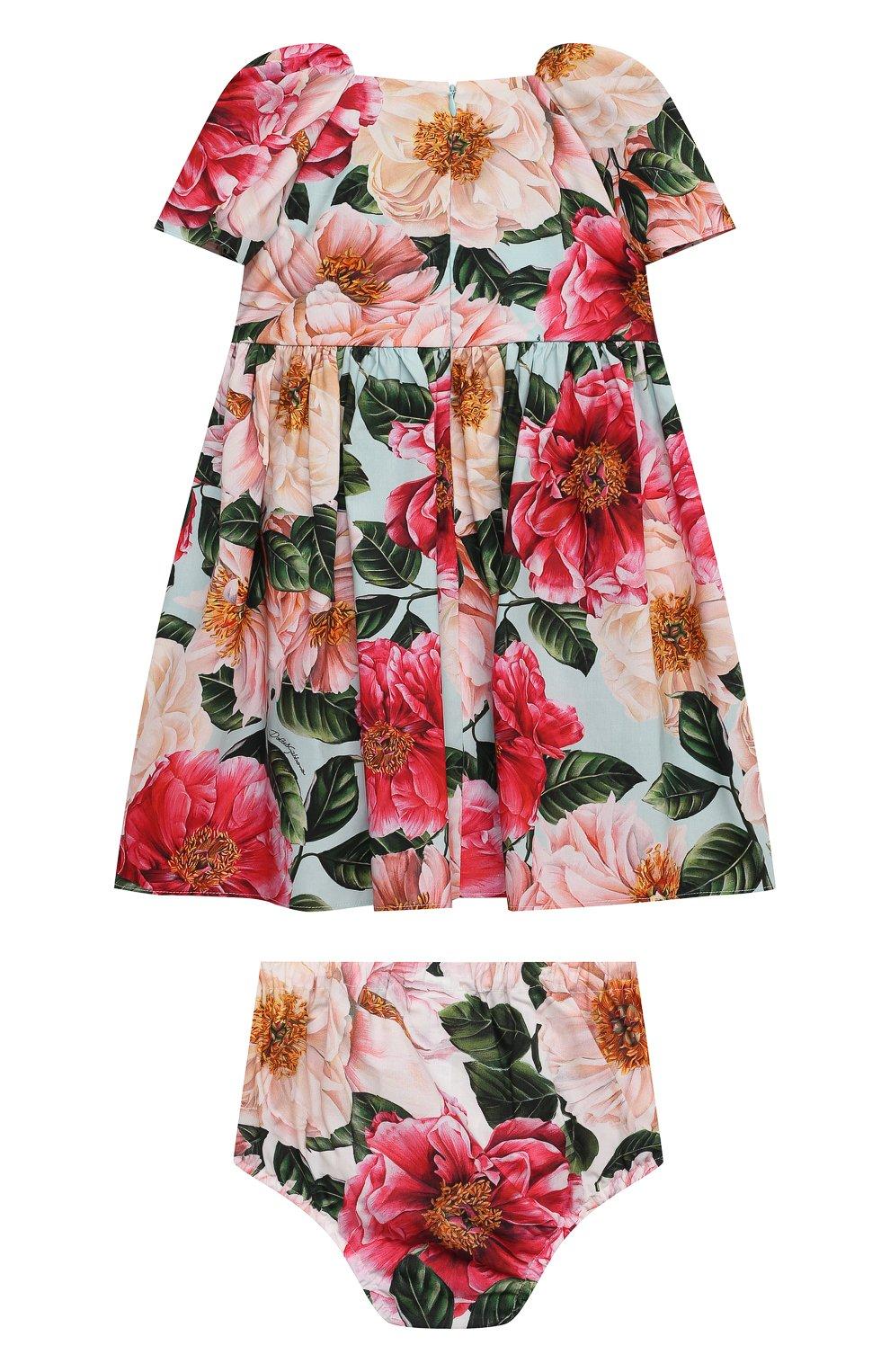 Женский комплект из платья и шорт DOLCE & GABBANA разноцветного цвета, арт. L21DQ6/HS5H5   Фото 2