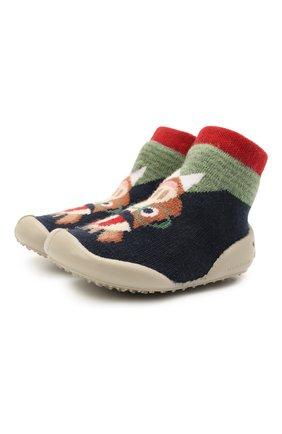 Детского домашние туфли COLLEGIEN разноцветного цвета, арт. 110A/18-35 | Фото 1 (Материал внешний: Текстиль; Материал внутренний: Текстиль)