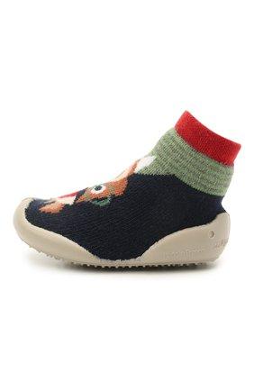 Детского домашние туфли COLLEGIEN разноцветного цвета, арт. 110A/18-35 | Фото 2 (Материал внешний: Текстиль; Материал внутренний: Текстиль)