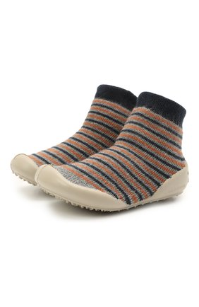 Детского домашние туфли COLLEGIEN разноцветного цвета, арт. 110B/18-35 | Фото 1 (Материал внешний: Текстиль; Материал внутренний: Текстиль)
