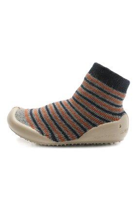 Детского домашние туфли COLLEGIEN разноцветного цвета, арт. 110B/18-35 | Фото 2 (Материал внешний: Текстиль; Материал внутренний: Текстиль)