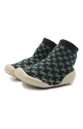 Детского домашние туфли COLLEGIEN зеленого цвета, арт. 110D/18-35 | Фото 1 (Материал внутренний: Текстиль; Материал внешний: Текстиль)