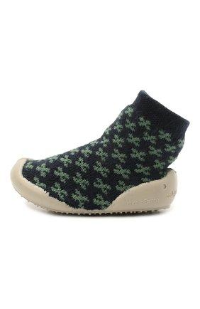 Детского домашние туфли COLLEGIEN зеленого цвета, арт. 110D/18-35 | Фото 2 (Материал внутренний: Текстиль; Материал внешний: Текстиль)
