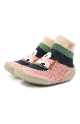 Детского домашние туфли COLLEGIEN разноцветного цвета, арт. 110F/18-35 | Фото 1