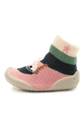 Детского домашние туфли COLLEGIEN разноцветного цвета, арт. 110F/18-35 | Фото 2