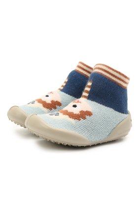 Детского домашние туфли COLLEGIEN разноцветного цвета, арт. 112A/18-35 | Фото 1 (Материал внешний: Текстиль; Материал внутренний: Текстиль)
