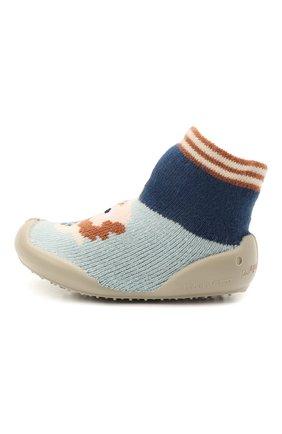 Детского домашние туфли COLLEGIEN разноцветного цвета, арт. 112A/18-35 | Фото 2 (Материал внешний: Текстиль; Материал внутренний: Текстиль)