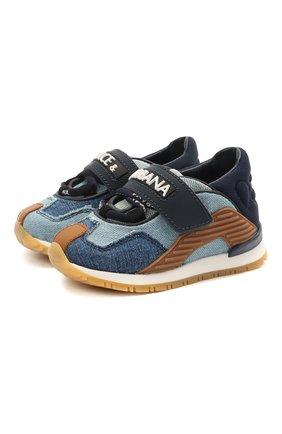 Детские кроссовки DOLCE & GABBANA голубого цвета, арт. DN0160/A0537   Фото 1
