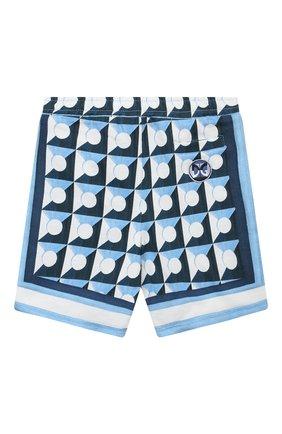 Детские хлопковые шорты DOLCE & GABBANA голубого цвета, арт. L1JQH5/G7WRR | Фото 2