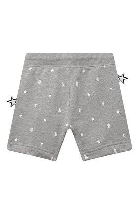 Детские хлопковые шорты BURBERRY серого цвета, арт. 8038517   Фото 2
