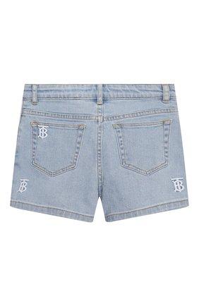 Детские джинсовые шорты BURBERRY голубого цвета, арт. 8038514 | Фото 2